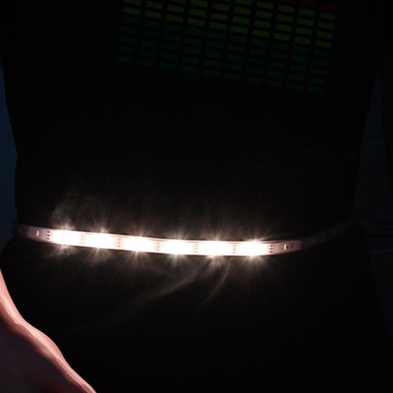 Açık Çanta LED Koşu Bel Kemeri USB Şarj Edilebilir Yanıp Sönen SOS Gece Güvenliği Sürme)