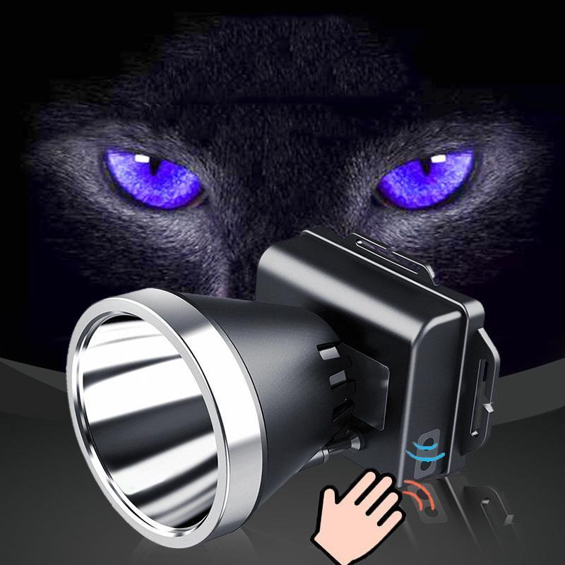 Фары 2021 est 500meters мощные фонарические фары для фары для рыболовных факелов LED USB перезаряжаемый с датчиком движения