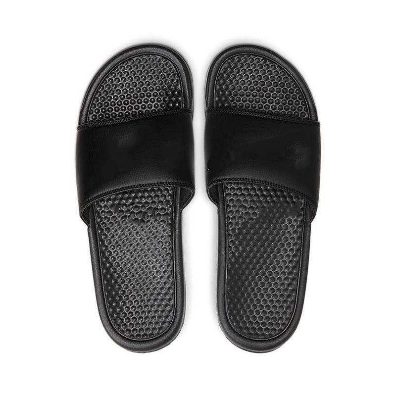 Nike Summer Slippers Benassi Jdi Mismatch لمتزلجون رجل إمرأة الصيف الصنادل شاطئ النعال السيدات فليب تتلاشى المتسكعون أسود أبيض وردي الشرائح chaussures الأحذية 36-45