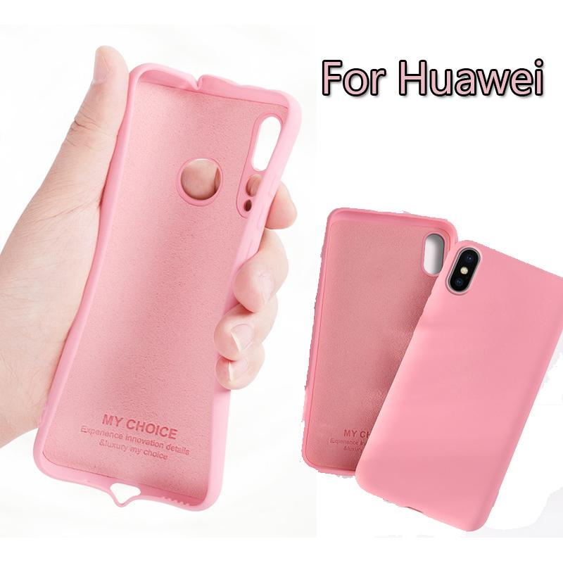 10pcs Luxury Liquid Silicone Case For Huawei P30 P20 Pro Mate 20 X 10 Lite Nova 5 5i Candy Color Shockproof Protective Cover