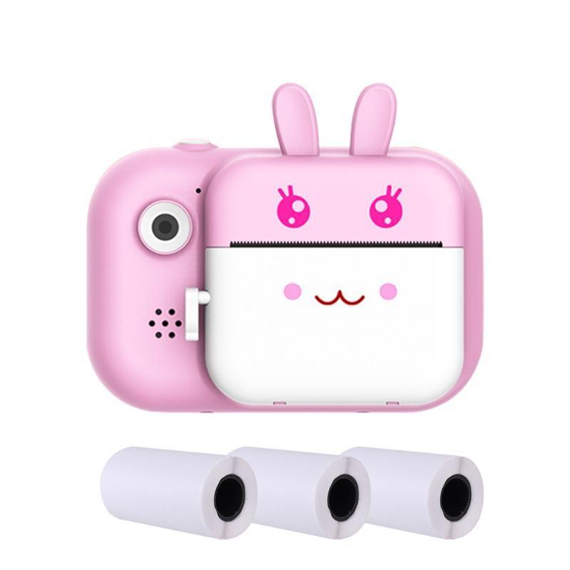 Cute Cartoon Pography Po Printer 1080P HD Waterproof Front Rear 24mega Pixel Gift Kids Camera LCD Display USB Rechargeable Digital Cameras