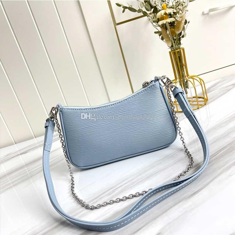 مصممون إمرأة حقيبة الكتف سستة المحافظ سهلة الحقيبة حزام مصغرة hanbag الأزياء سلسلة أكيلاري حزمة جودة عالية 4 لون الماء تموج محافظ M80471