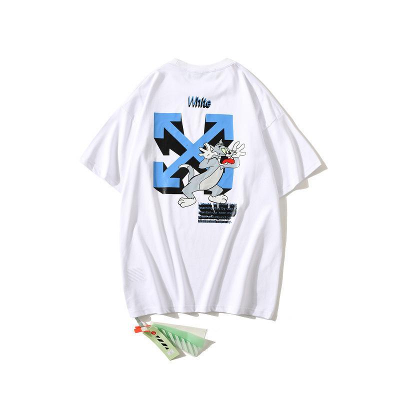 Chao Markenjahr Die Ratte Limited Ow Neue Art von Baumwolle lose Pullover Kurzarm T-Shirt Outlet O99F