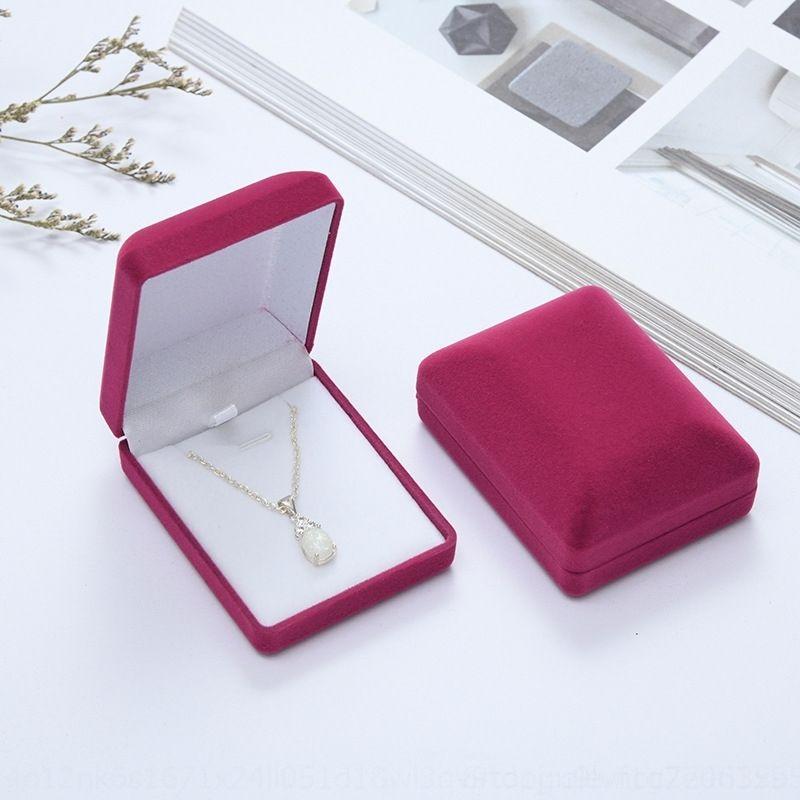 gJk high grade spray velvet pendant pendant boxes flocking packaging boxes flannel earrings brooch jewelry packaging jewelry