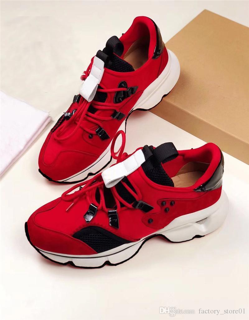 ZapatosLouboutinClcristianoHombre para mujer Unisex Casual Zapatos Casuales Fondo Rojo Suela Sneakers Partido Zapatos de boda Cuero High T LRR