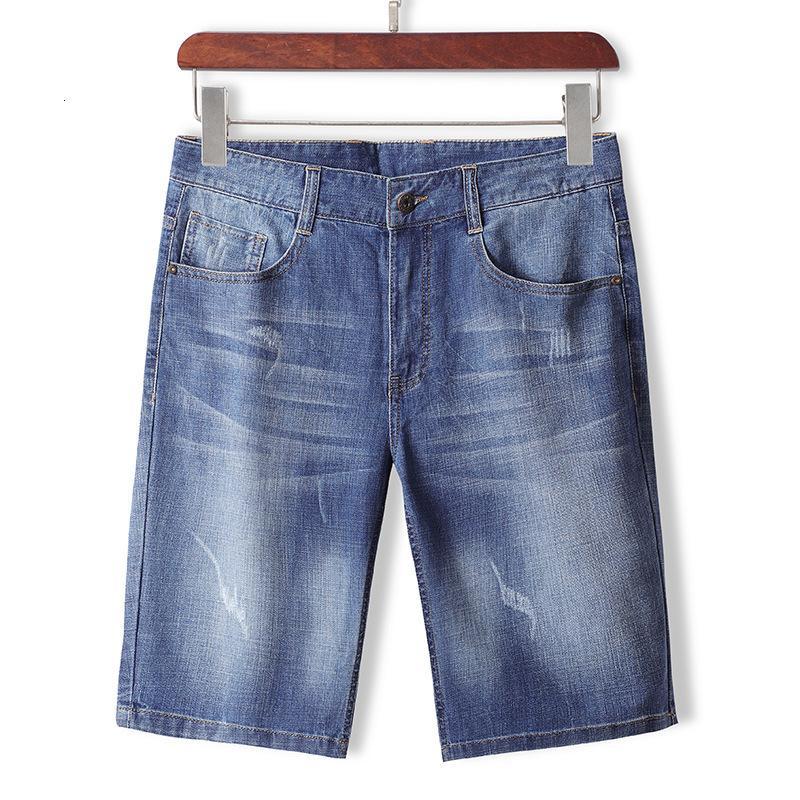 Hombres usan 2021 pantalones cortos de jeans Versión coreana Pantalones Capris Pantalones 15420