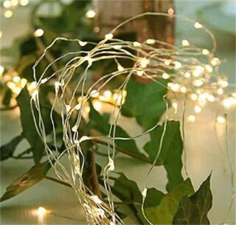Рождественские солнечные струнные огни 33 / 66FT 100/2001 медный проволоки 8-коды Fairy Водоизоляционные системы Струнные светильники для патио Gardengate 185 V2