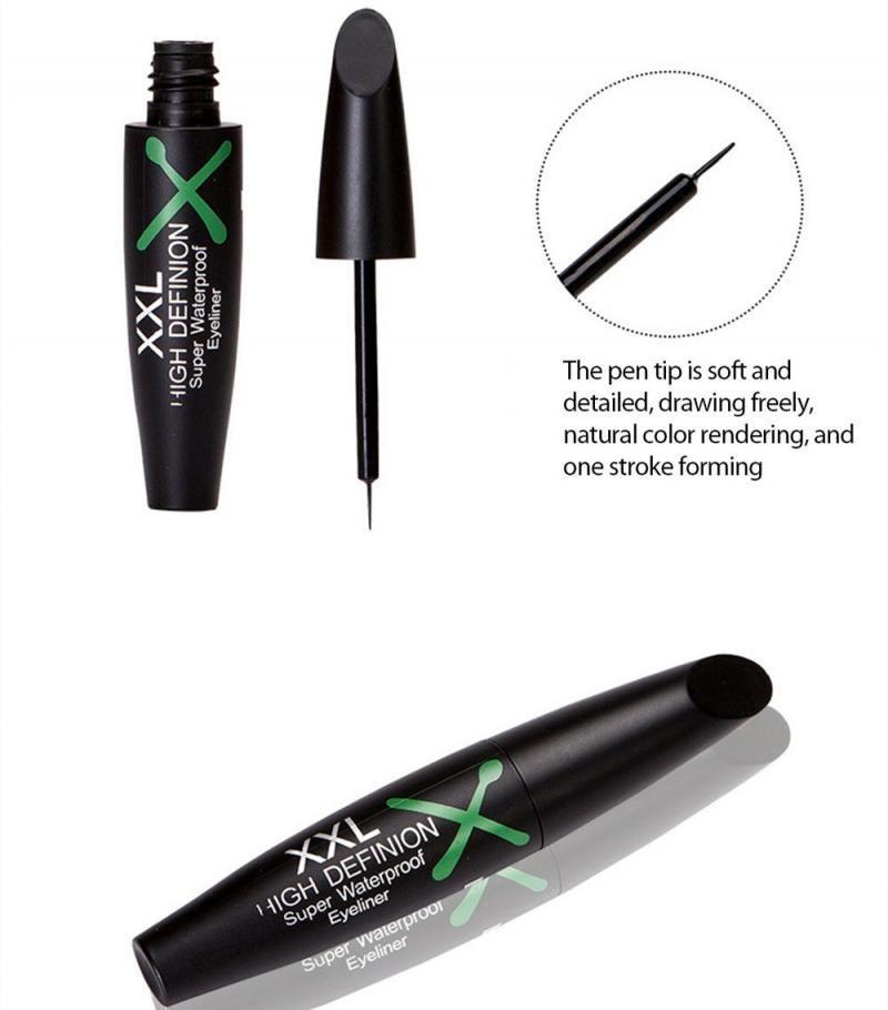 Siyah Eyeliner Sıvı Su Geçirmez Uzun Ömürlü Göz Kalemi Pen Makyaj Kozmetik Güzellik Aracı Giymek Kolay Maquillaje TSLM1