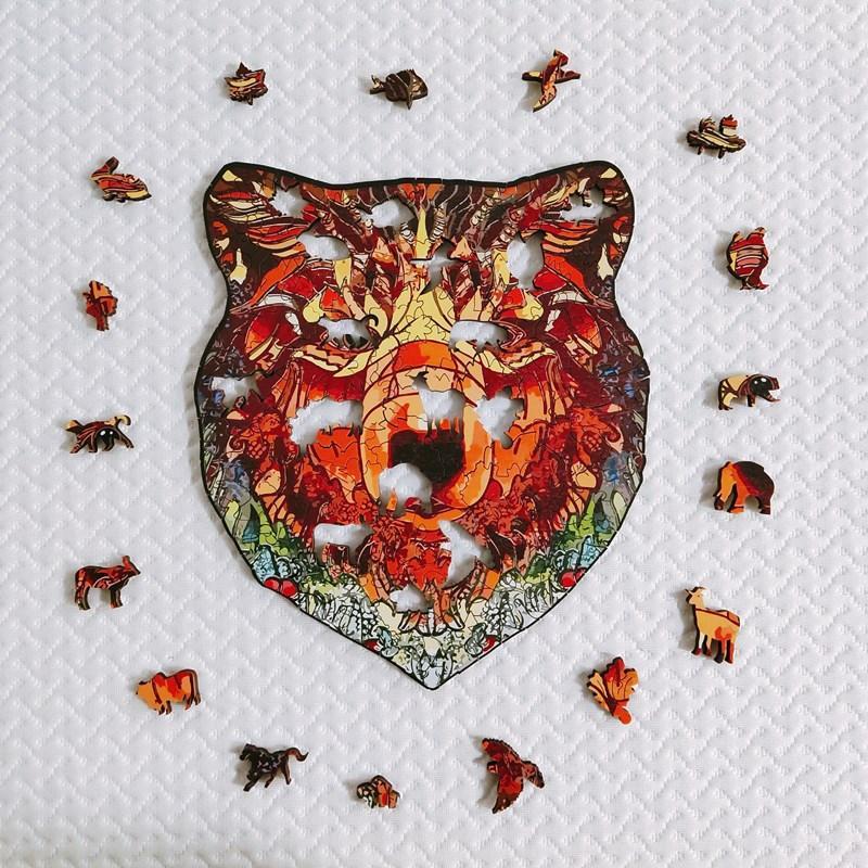 Banlv медведь головоломки животных головоломки в форме нерегулярной головоломки лес медведь 3d самолет мудрость подарочные подарки для мужчин и женщин интернет знаменитость w