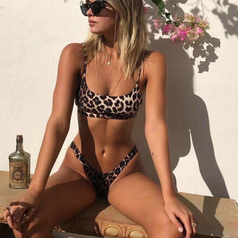 Costumi da bagno 2021 Leopard Snake Stampa Spalato Sexy Costume da bagno da donna