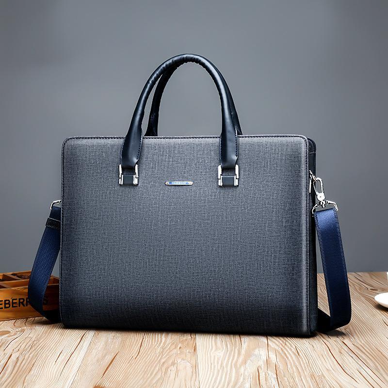 Erkek iş evrak çantası yatay çanta tek omuz bilgisayar dosyası büyük kapasiteli el çantası