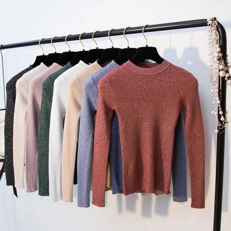 Frauenpullover Avodovama M Gestrickte Frauen Mode Herbst Winter Langarm Solid Rollkragen Weibliche Tops Pullover