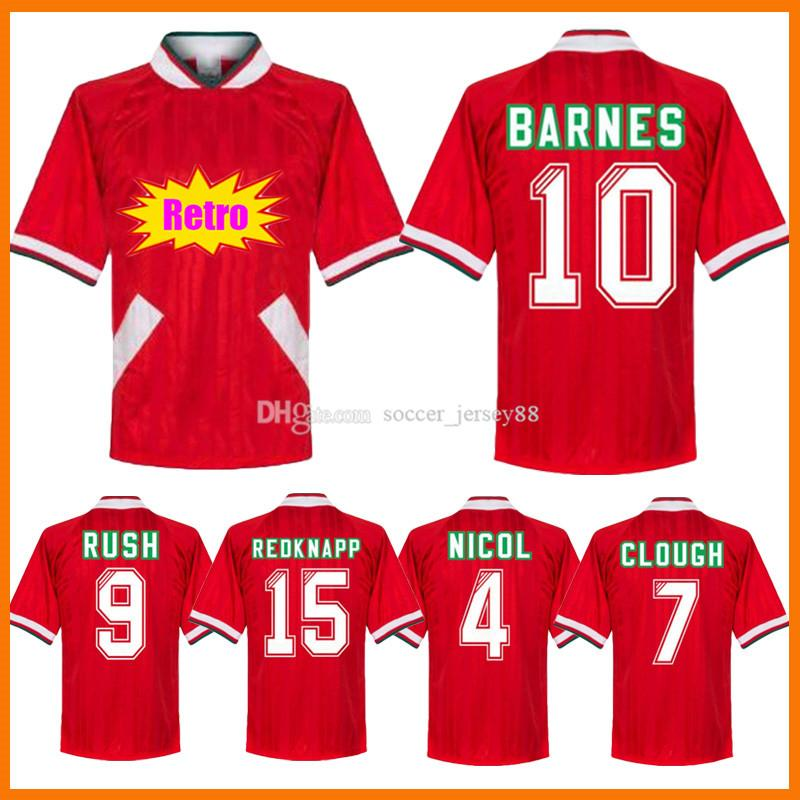 Rush Fowler Stewart Retro Soccer Jerseys 1993 1995 Barnes Clough Redknapp 93 94 95 Nicol McManaman Vintage Classic Classa de Futebol Camisa de Fútbol