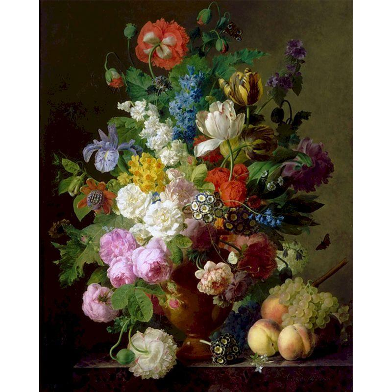 Pintura por números para adultos crianças flor diy óleo coloração em fotos de arte fotos pinturas