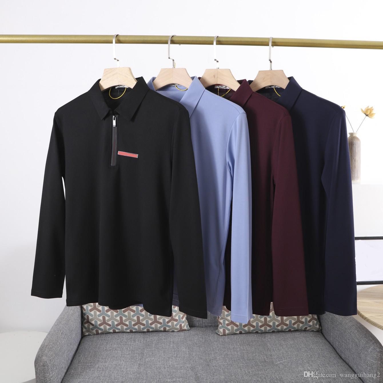 21SS Erkekler Polos Klasik Rahat T Shirt Erkek Terry Yakışıklı Gevşek Sürüm Kesme Süreci Kısa Kollu Moda Tasarım Yaka Ithal TenC