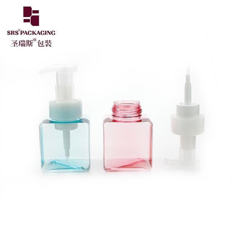 Lagerflaschen Gläser Stock 250ml 450ml Weißbraun Grün Rosa Klare Kunststoff Pumpe Leere Blase Hand Seifenflasche