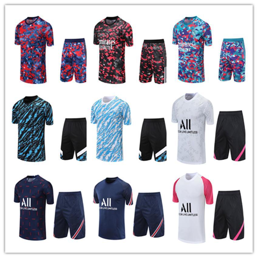 2020 2021 France Paris maillot de football 3/4 pantalon 20 21 maillots de football Madrid OM manches courtes jogging PSG football formation costume taille S-XXL