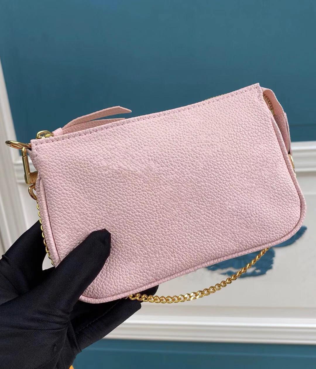 بواسطة بركة النساء أزياء Empreinte لينة الحبوب حقيبة مخلب أكياس مخلب مصغرة pochette accessoires صور التدرج لون السيدات حقيبة سلسلة جديدة مع هدية مربع
