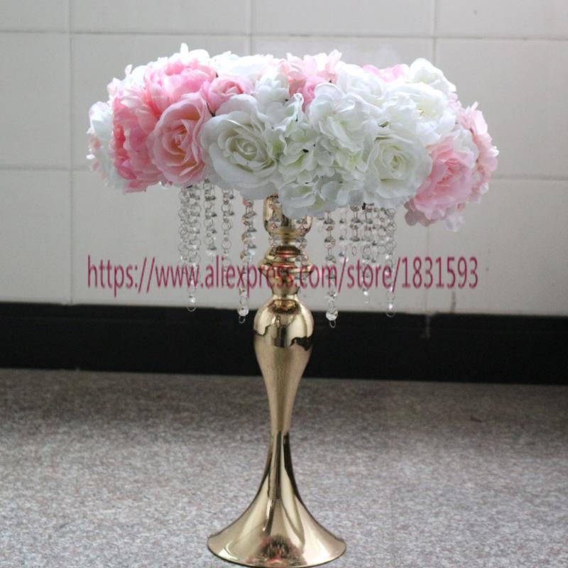 10 unids / lote corona de boda de la guirnalda de la boda de la guirnalda de la boda de la flor de la rosa y la hortensia de la flor de la flor de la flor de la decoración de la boda Tongfeng