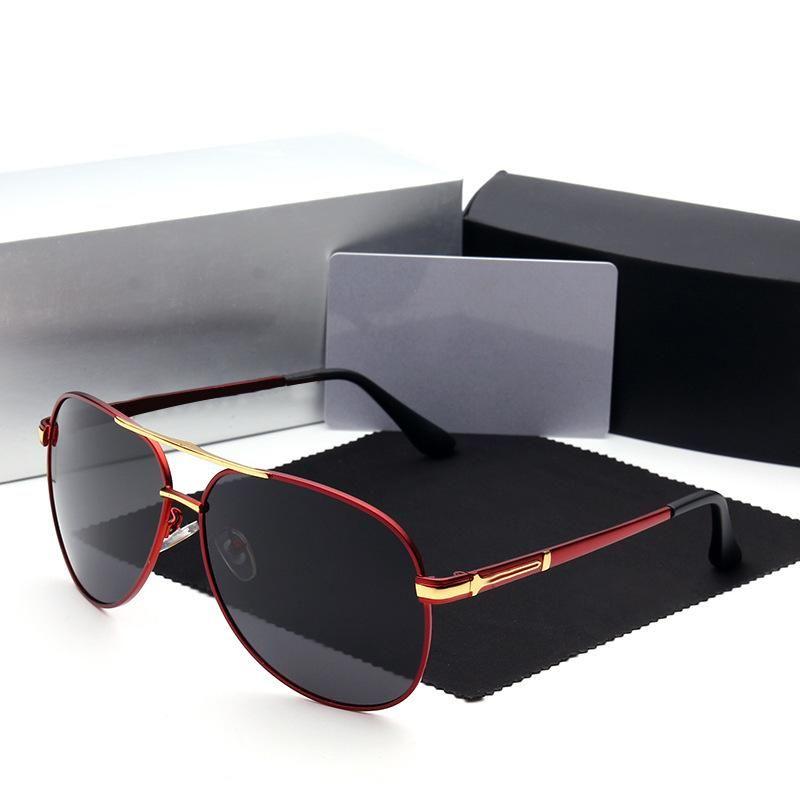 Cubojue Mens 선글라스 편광 된 브랜드 대형 150mm 태양 안경 운전 항공 선글라스 반사 폴라로이드