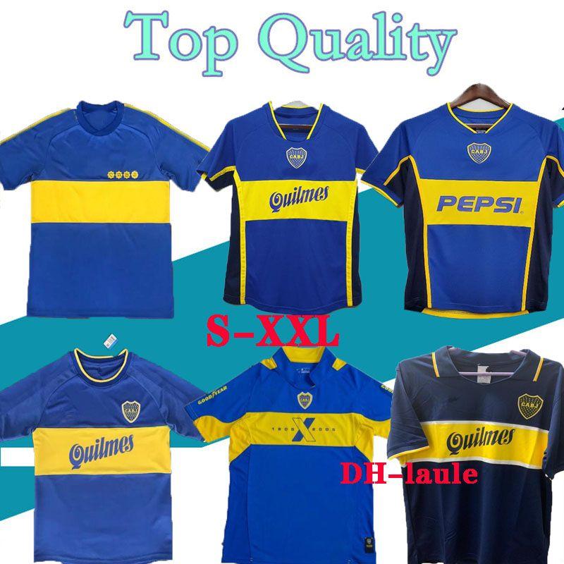 97 98 Boca Juniors 레트로 축구 유니폼 Maradona 빈티지 Caniggia 99 00 2001 2003 2005 1981 Maglia 클래식 축구 셔츠 Maillot Camiseta de Futbol