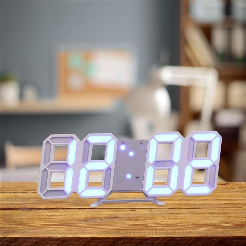 Dijital Çalar Saat Sıcaklık LED Numarası Zaman Ev Dekorasyon Masası Masa Saatleri