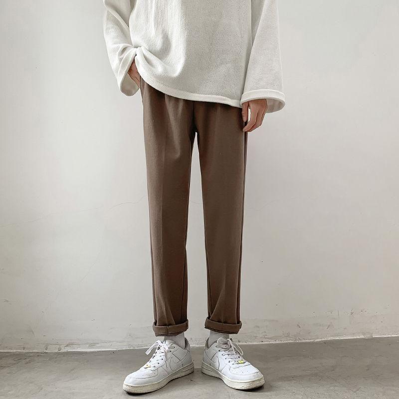 남성 두꺼운 느슨한 유지 따뜻한 모직 바지 패션 트렌드 바지 Streetwear 힙합화물 캐주얼 3 컬러 슈트