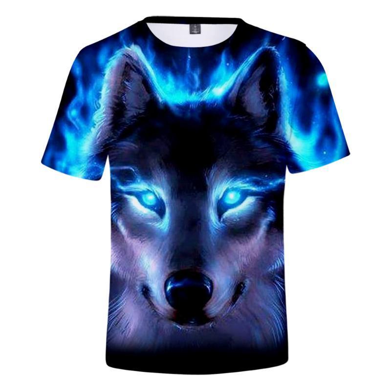 Wolf T Shirt 3D Print Animal Funny T-Shirt Men/Women Short Sleeve Summer Tops Tees Fashion Casual TrendyT Women's