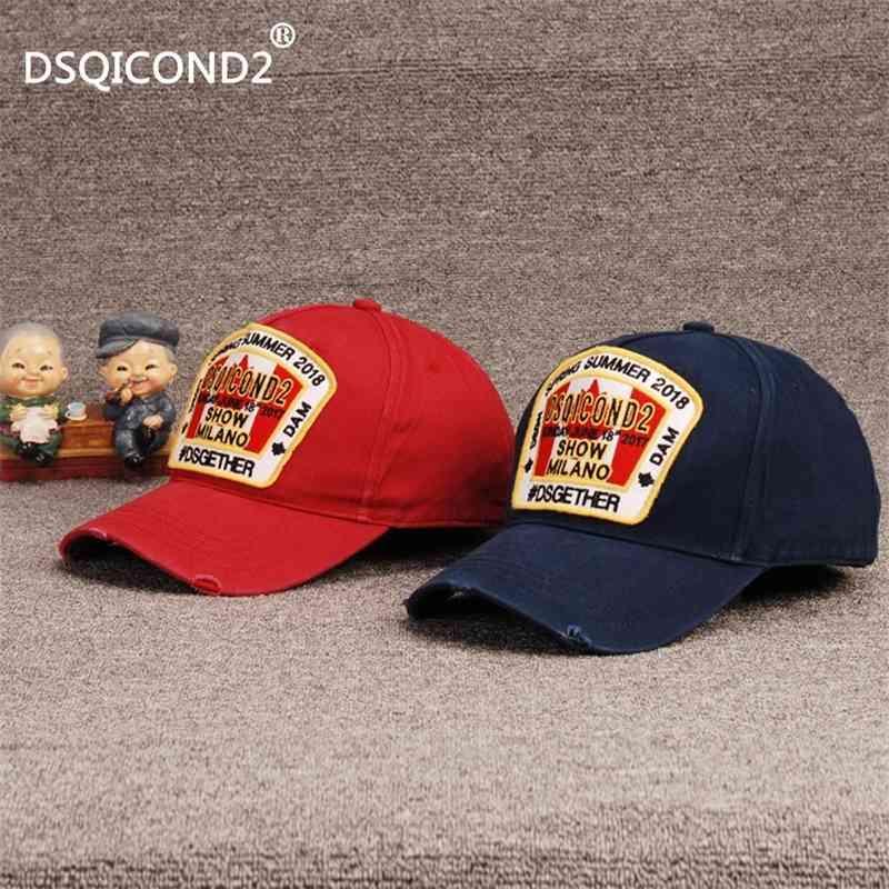 D70 Simgesi DSQICOND2 Beyzbol Kap Erkekler Ve Kadınlar Moda Tasarım Pamuk Nakış Ayarlanabilir Spor Mağarası Şapka Güzel Kalite Kafa Giyim