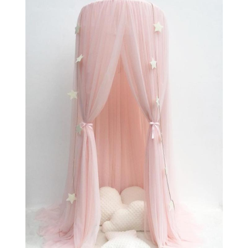 Crib Netting 1pc Princess Fairy Voile Hanging Mosquito Net Crown Round Screen Canopy Insect Bed Garden Camping Anti-Mosquito Kids Room Decor