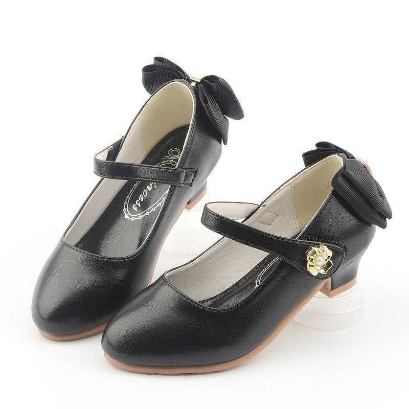 الفتيات عالية الكعب للأطفال الأطفال الرقص أحذية هدية عيد الأميرة عالية الكعب لطيف القوس عقدة عادي اللون مريح صنادل الأحذية