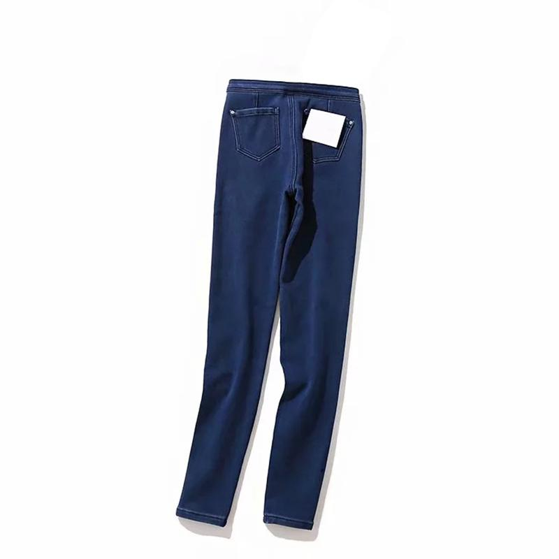 Wixra feminino jeans lápis calças com esticamento de pele zíperes magros nova cintura alta magro Bodycon All-Match Outono Denim Calças