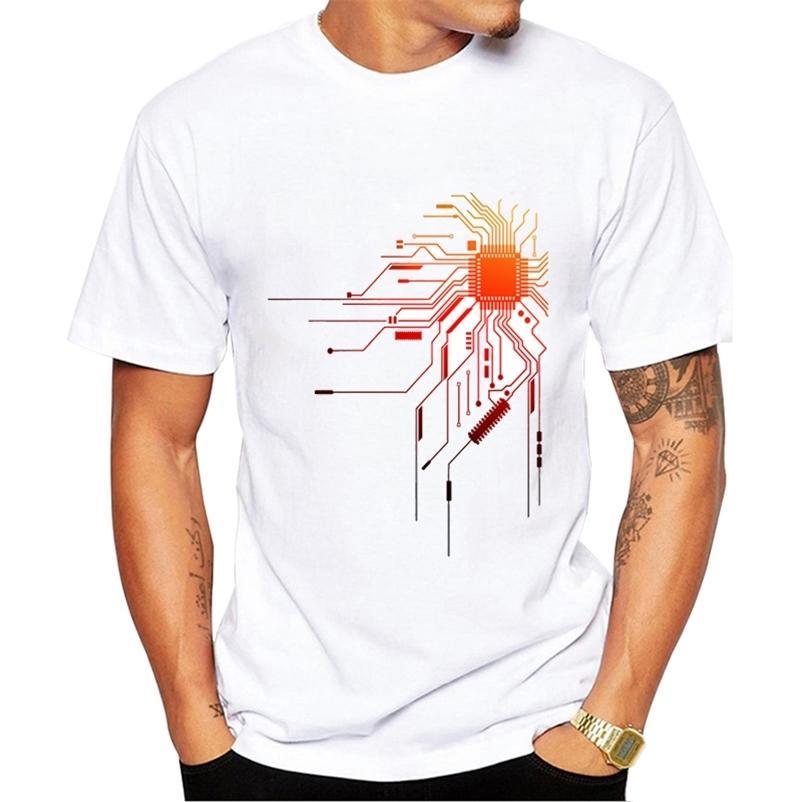Bilgisayar CPU Çekirdek Kalp T-shirt erkek Geek Nerd Freak Hacker PC Gamer Tee Yaz Kısa Kollu T Gömlek Asya Boyutu 210322