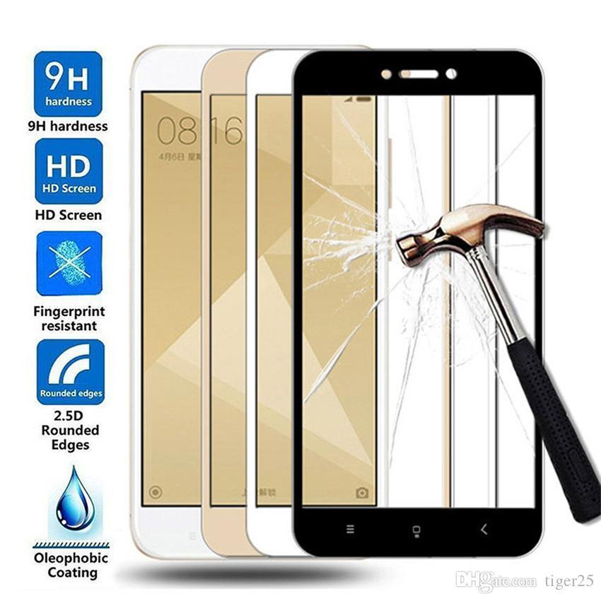 15D vidro protetor para Xiaomi Redmi 4x 5a 5 mais 6 6A 7a Redmi Nota 4 4x 5 5A Protetor de tela de vidro temperado