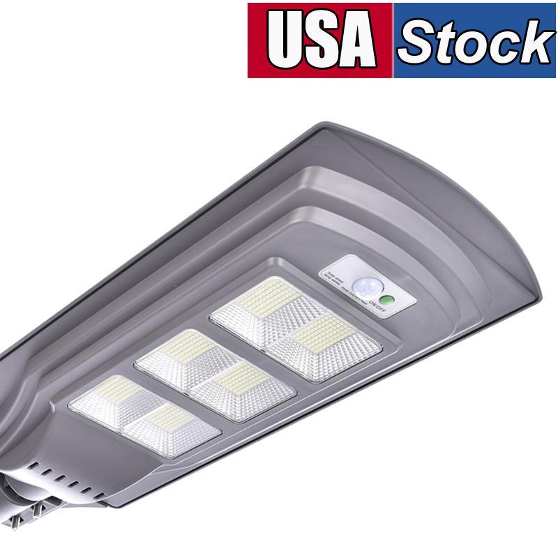 Solar Street Light Outdoor Lampe, 624 LEDs IP65 Dämmerung zum Morgengrauen Hohe helle angetriebene Sicherheitsflutlichter mit Bewegungssensor Fernbedienungspool