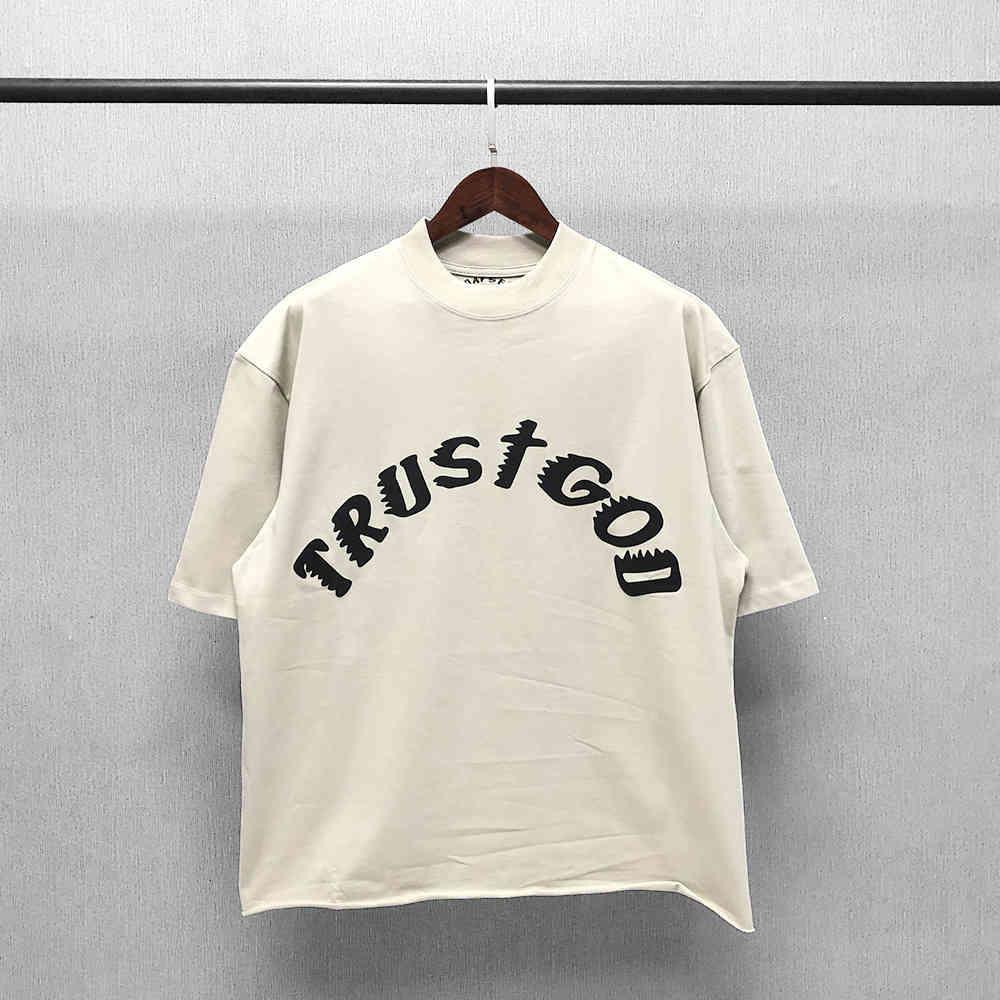 Тот же стиль Lisa Kanye воскресенье ограничена с короткими рукавами высокогорного бренда FG пенистым буквами негабаритных дизайнерских мужчин футболки