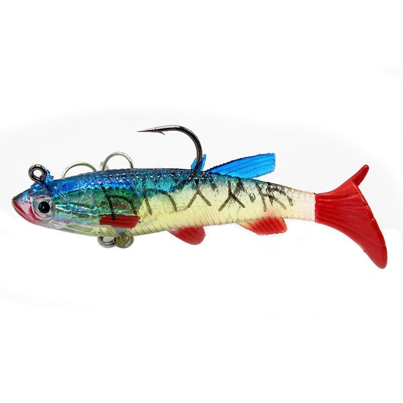 Esche da pesca di alta qualità Barelli morbidi wobblers 9cm 14g esca artificiale in silicone pesci in silicone mare BASSO PESCIP PESCI PASTICI PIÙ GIGLIA JIG Esche Affrontate