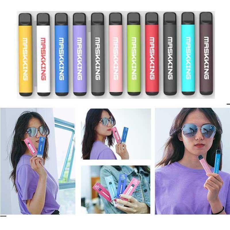 Maskking High Pro Disable Vape Pen Atomizador Pod Device Starter Kit MK E Cigarro 1000 Puffs Russsian / Inglês Verion Air Bar Bang XXL Puff