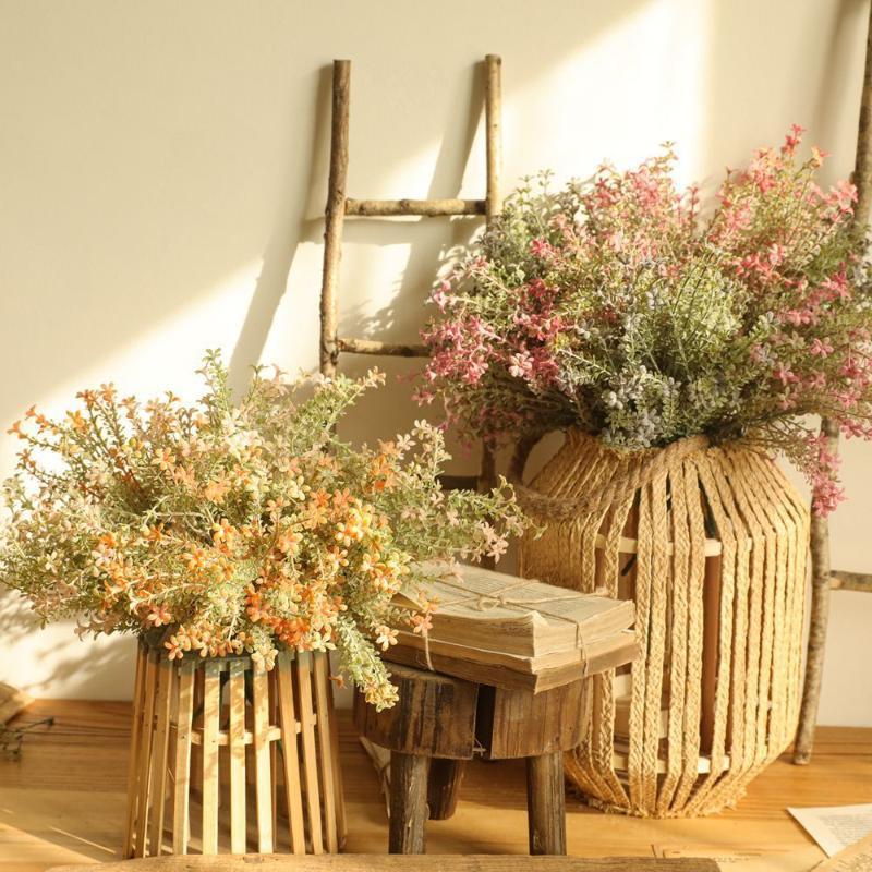 النباتات الاصطناعية النباتات عيد الميلاد أكاسيا زهرة زهرة ديكور المنزل ترتيب زخرفة الزفاف البرية
