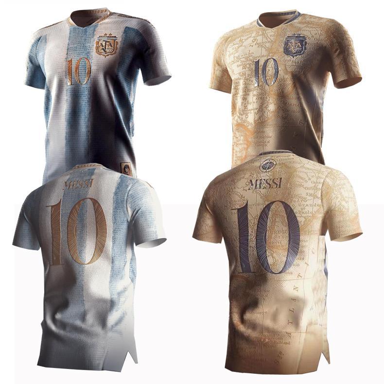 20/21 Argentina Maradona 86 Retro Edição Comemorativa Jerseys 2021 # 10 Messi 200th Anniversary Dybala Aguero Celso Martinez Camisa de Futebol Uniformes