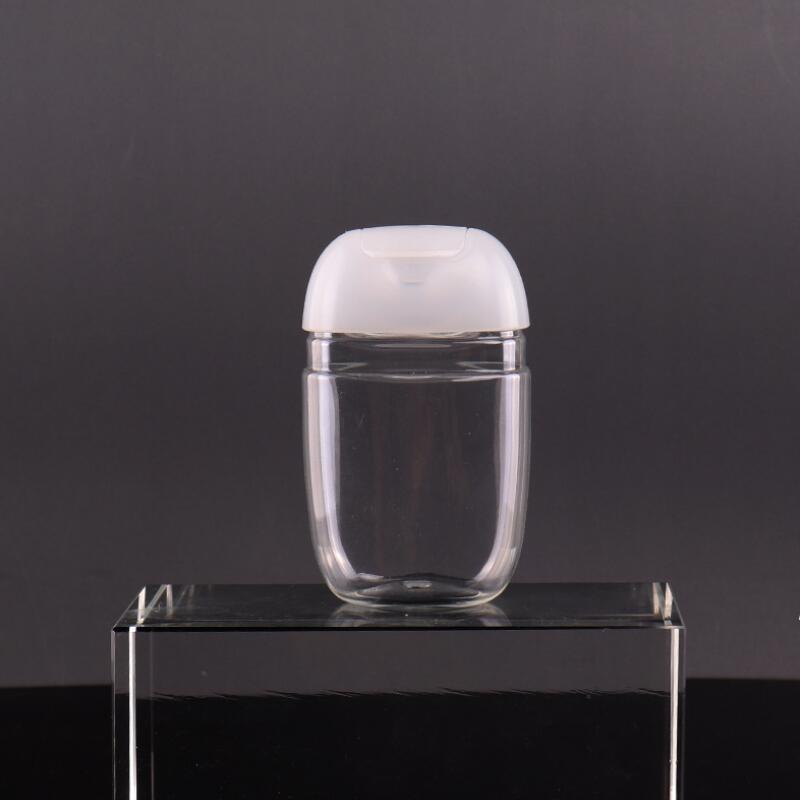 30ml mão desinfetante garrafa animal de estimação plástico metade redonda flip tampão garrafa de garrafa de criança desinfectante mão sanitizer garrafa llf8589
