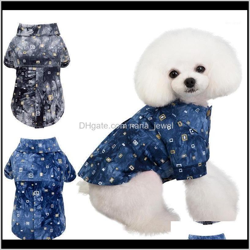 Apparel Supplies Home & Gardendog Shirts Cotton Summer Beach Vest Short Sleeve Pet Clothes Dog T Shirt Print Tops1 Drop Delivery 2021 Uhr50