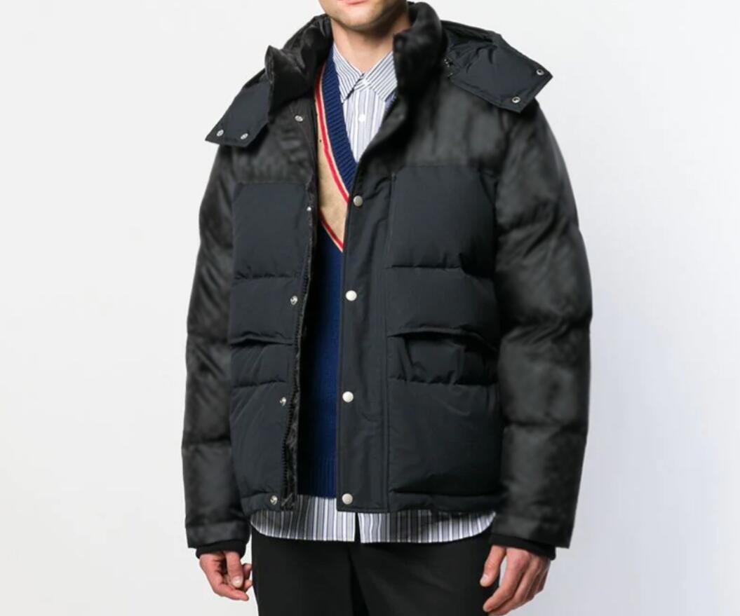 2021 Adam Tasarımcılar Giysi Ceketler Paris Basketbol Mektup Nakış Casual Erkek Kış Mont Erkek Ceket Mavi Erkekler Kış Ceket