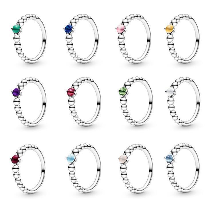 2021 ربيع باندورا الدائري 925 فضة الخرزة حلقات اللون الأصلي الأزياء diy سحر مجوهرات للنساء صنع