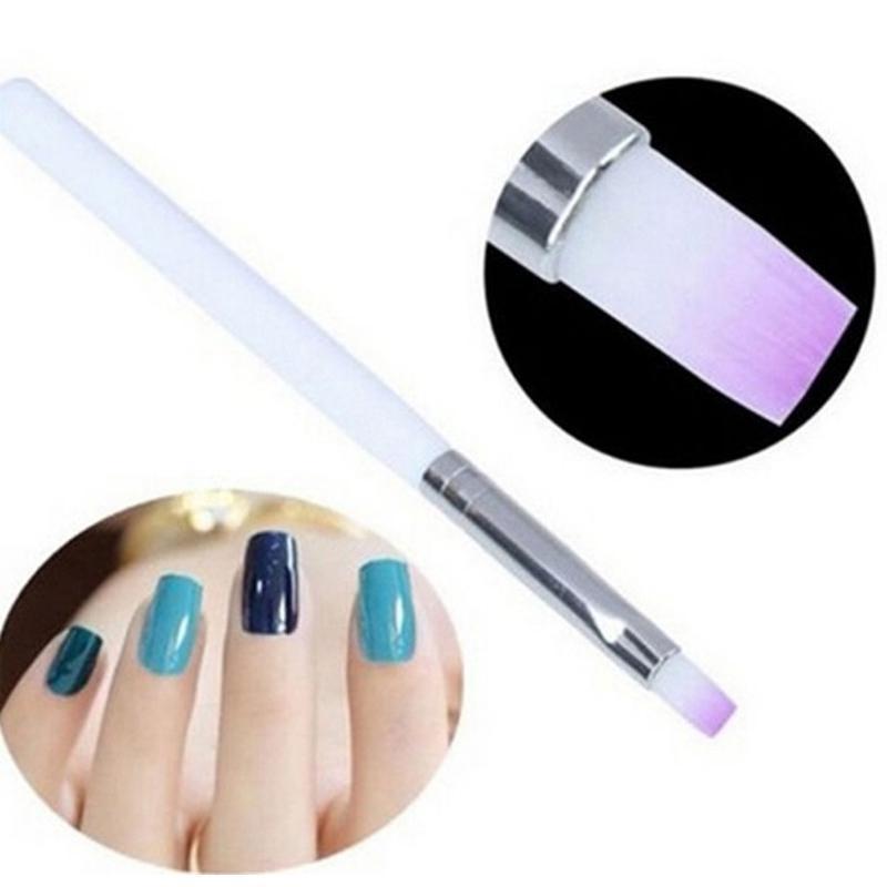 Kits de Arte Nail Branco Pole Brush Anil Caneta UV Gel Pintura Acrílica Desenho Liner Polonês