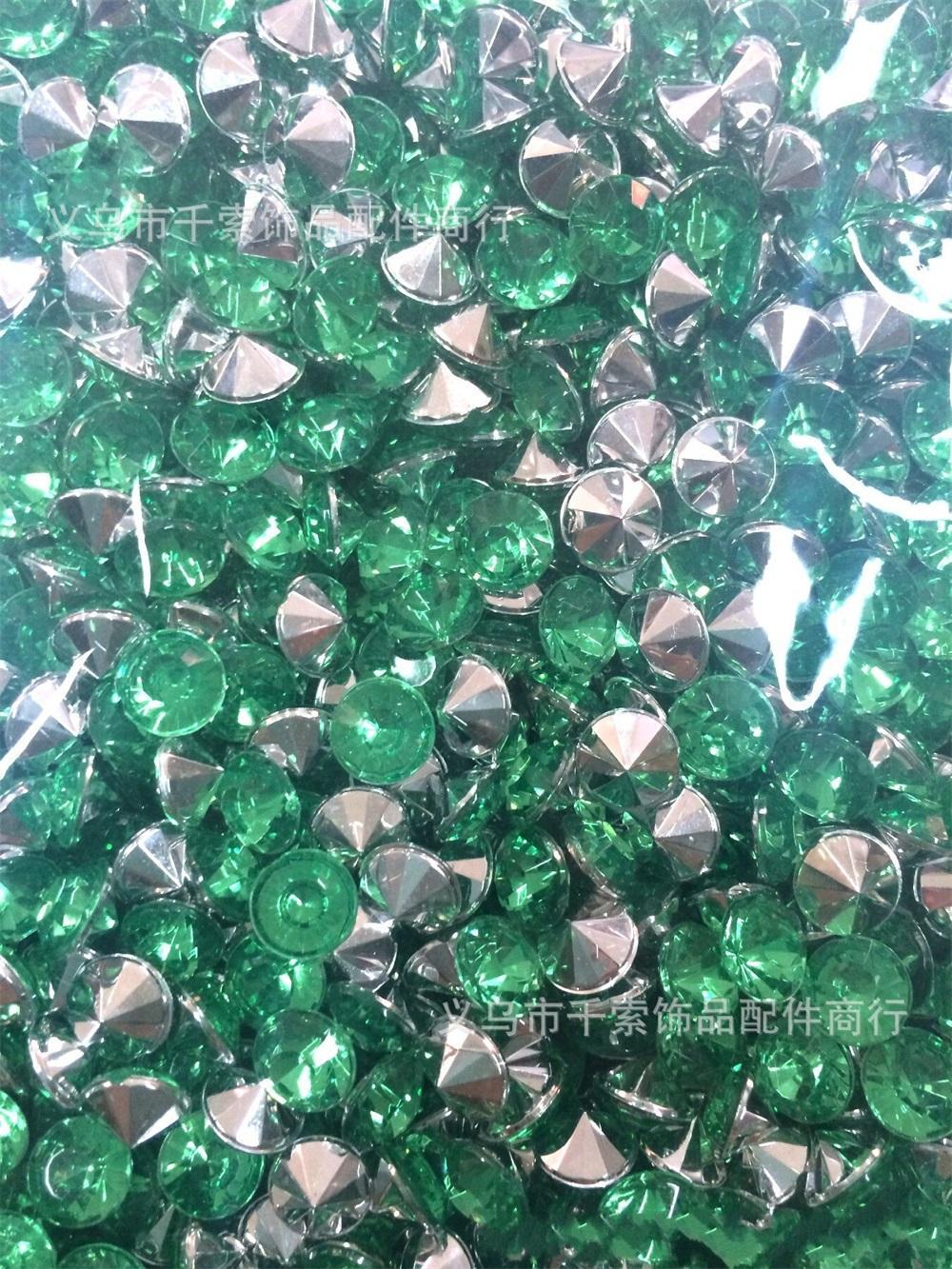 1000 1 / 3ct 4.5mm 청록색 블루 다이아몬드 색종이 웨딩 호의 테이블 스 캐터 장식 488 S2
