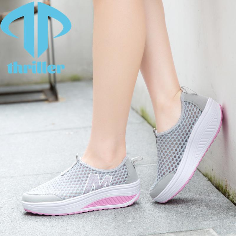 Thriller 2021 Moda Joker Zapatos deportivos para mujer Caminando Hueco Mujer Fitness Transpirable Swing Ocio