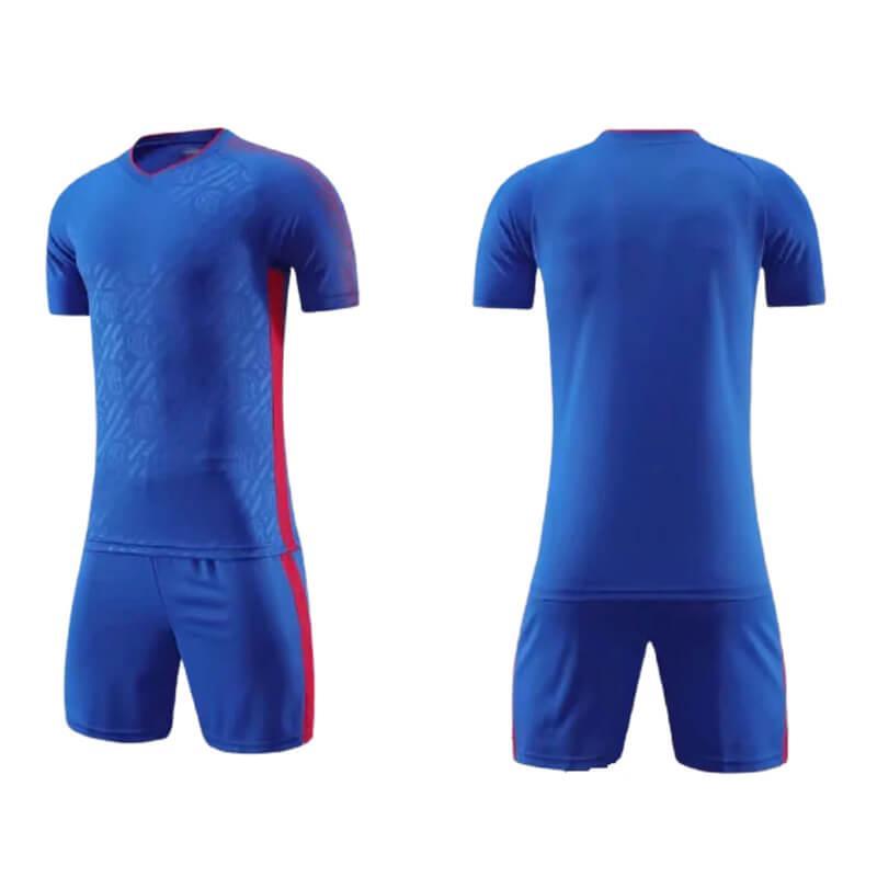 Männer Fußball-Trikots benutzerdefinierte fussball Hemden Shorts DIY Namensnummer Logo Sponsor für Team Uniformen Kinder Training Kits Jungen Blau Sport Sets