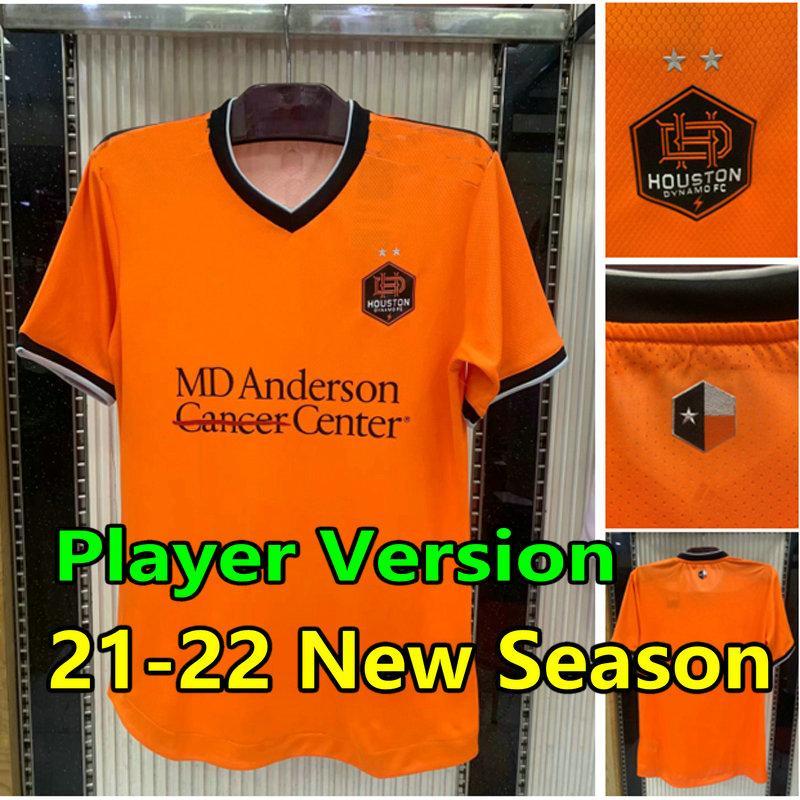 2021 Houston Soccer Jersey Dynamo FC Player الإصدار 2022 Camisetas de Fútbol 21 22 Boniek Darwin Jr Corona Rodriguez Elis Ramirez Shirts