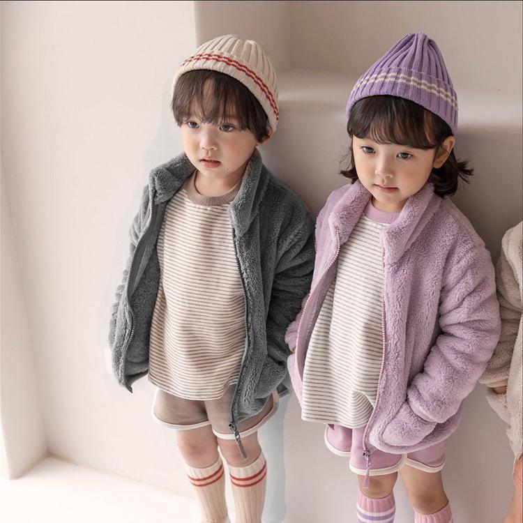 2021 Дети осенью и зима арктическая бархатная мягкая куртка